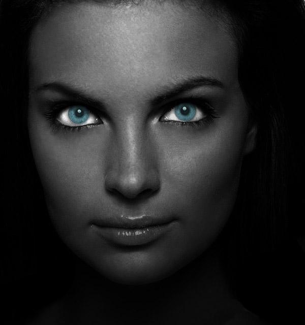 Голубые глаза в Photoshop